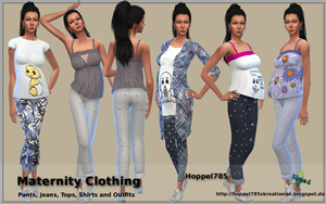 Sims 4 Maternity Clothing by hoppel785 Vrosch10