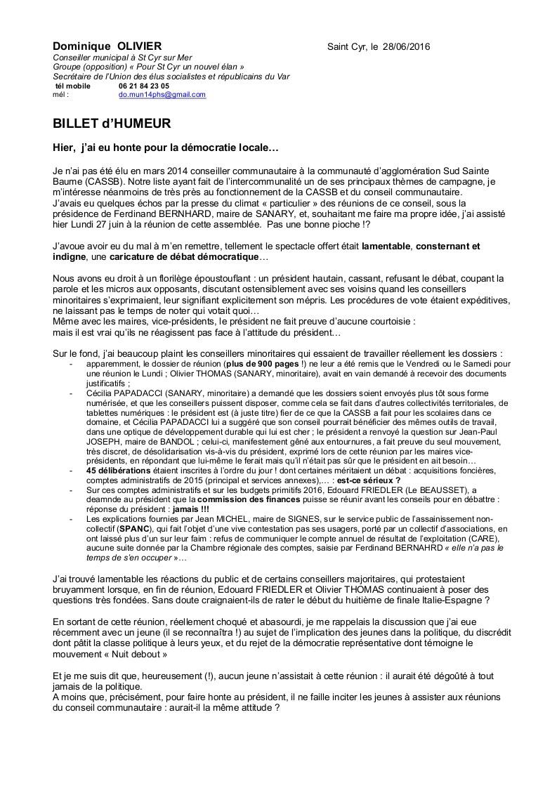 Billet d'Humeur de Dominique OLIVIER (pour info) et avec un peu de retard Cassb_10