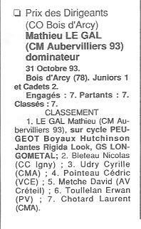 Coureurs et Clubs de Octobre 1993 à Septembre 1996 00140