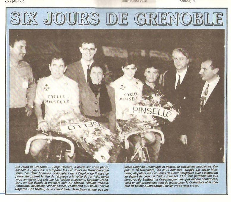 Coureurs et Clubs de Octobre 1993 à Septembre 1996 00338