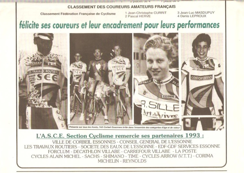 Coureurs et Clubs de Octobre 1993 à Septembre 1996 00829