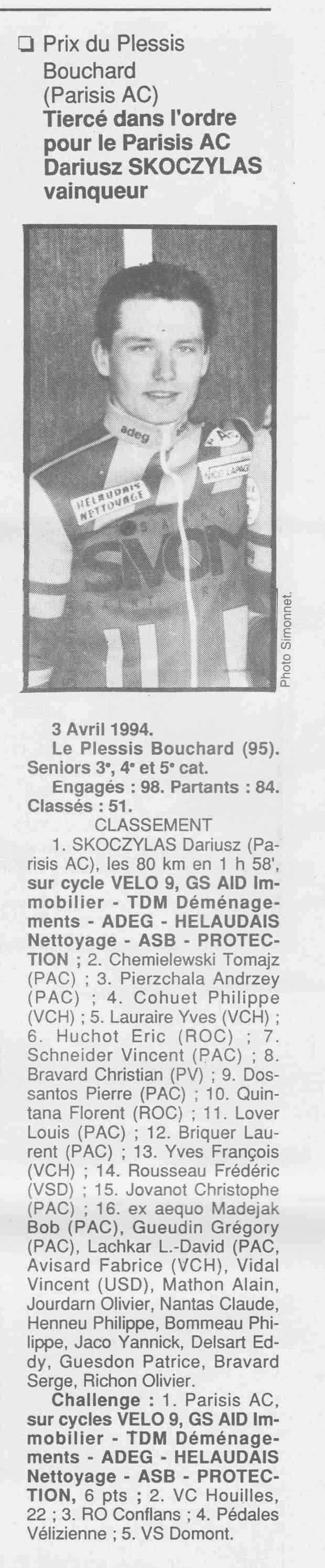 Coureurs et Clubs de Octobre 1993 à Septembre 1996 - Page 4 00934