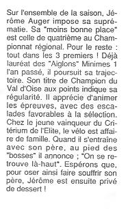 Coureurs et Clubs de Octobre 1993 à Septembre 1996 01814