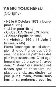 Coureurs et Clubs de Octobre 1993 à Septembre 1996 01914