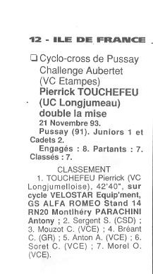 Coureurs et Clubs de Octobre 1993 à Septembre 1996 - Page 2 01916