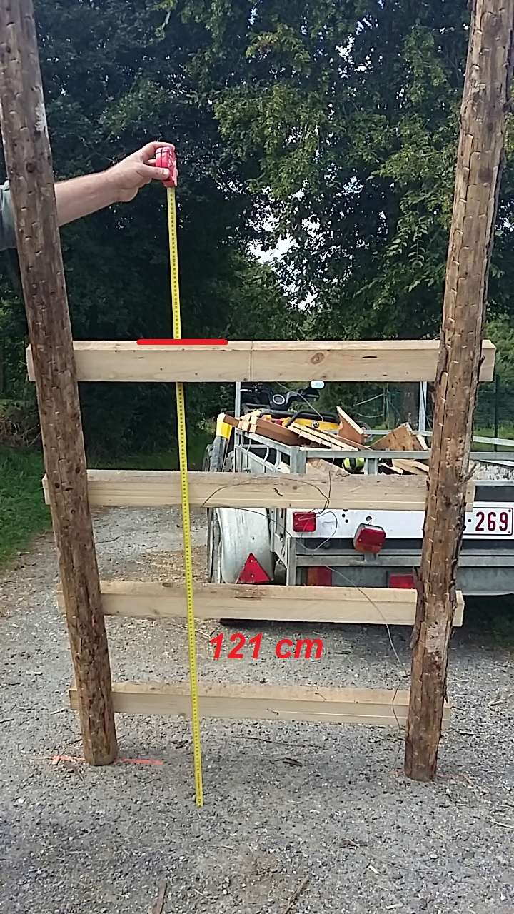 Construction mirador de battue étape par étape via PLC !  13_13