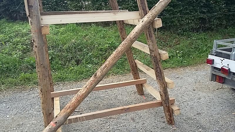 Construction mirador de battue étape par étape via PLC !  2013