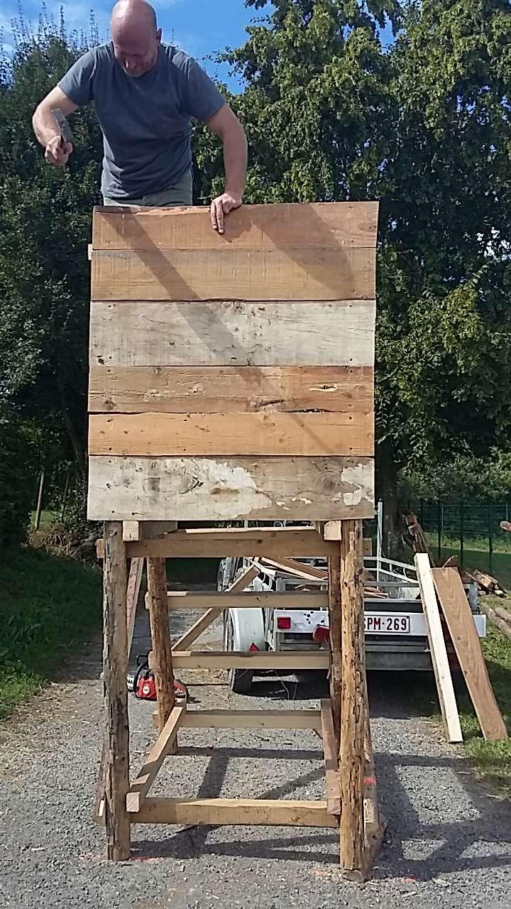 Construction mirador de battue étape par étape via PLC !  2512