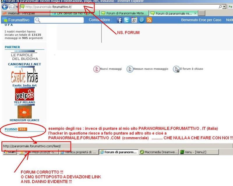Link deviati dal mio forumattivo a un altro forumattivo Hacker10