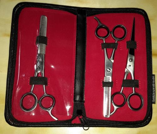 Purovi® Friseur Haarscheren mit Etui (3-er Set) Geyffn14