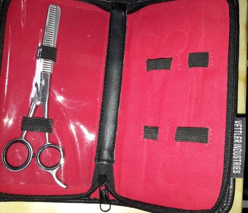 Purovi® Friseur Haarscheren mit Etui (3-er Set) Tasche14