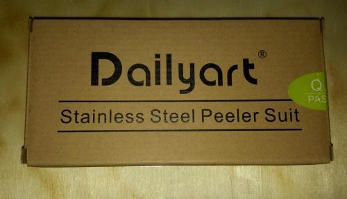 Dailyart® 2 in 1 Edelstahl-Gemüseschäler Verpac54