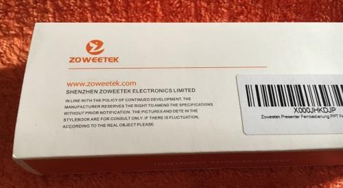 Zoweetek® 2.4 GHZ Wireless Presenter Verpac89