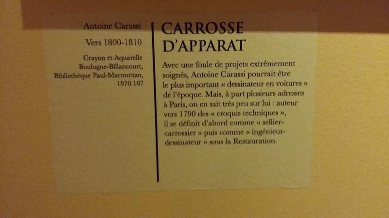 Exposition Carrosses à Marmottan (Boulogne-Billancourt) 20160137