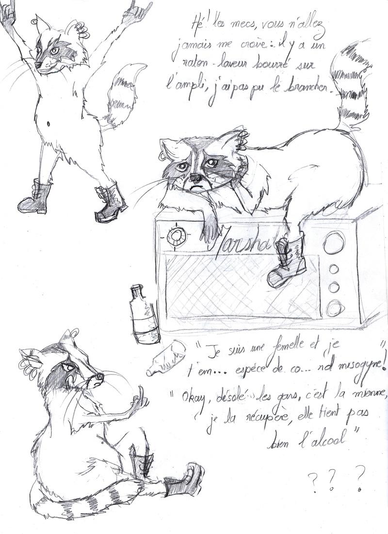 SUMMER CHALLENGE : la création d'un personnage mi homme/femme, mi animal - Page 2 Raccoo11