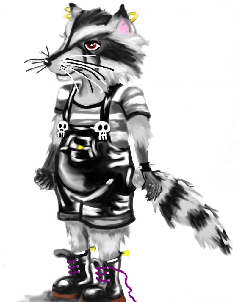 SUMMER CHALLENGE : la création d'un personnage mi homme/femme, mi animal - Page 2 Racoon10