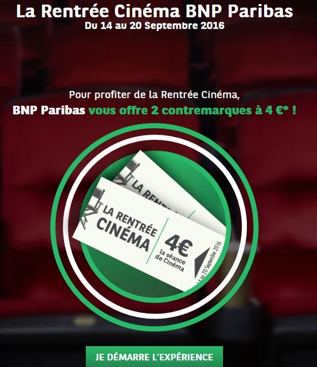 2 places de cinéma pour 8€ jusqu'au 07.09.16 Bnp10