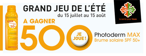 500 brumes Photoderm Max SPF 50+ Bioderma 15.08.16 Gagner10