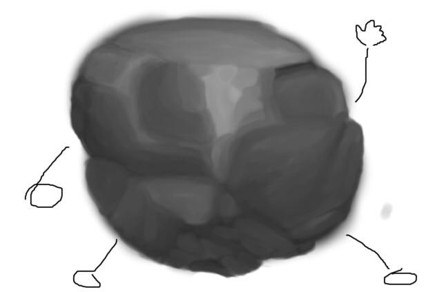 Process of bad drawings Rock-110