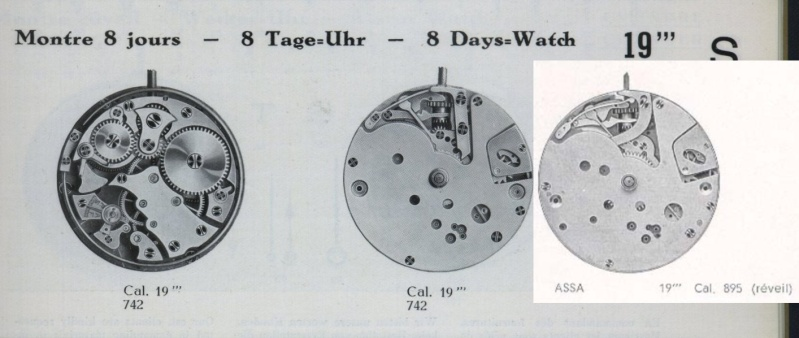 Calibre réveil 8 jours Lch_1910