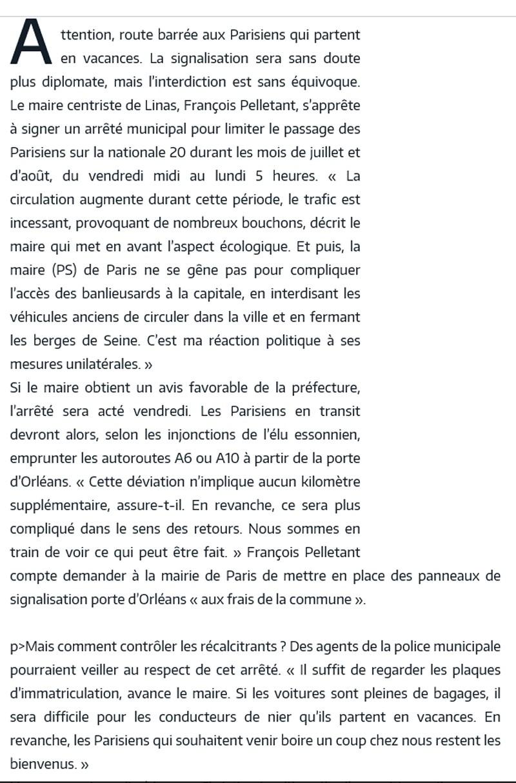 Interdiction des voitures d'avant 1997 et fermeture des voies sur berge dans Paris  - Page 3 Maire_10