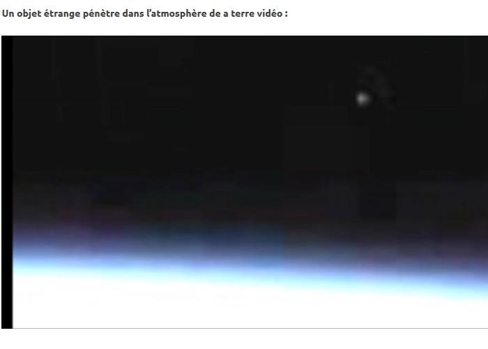 La Nasa interrompt sa retransmission en direct lorsqu'un objet étrange pénètre dans l'atmosphère de a terre Sans_340