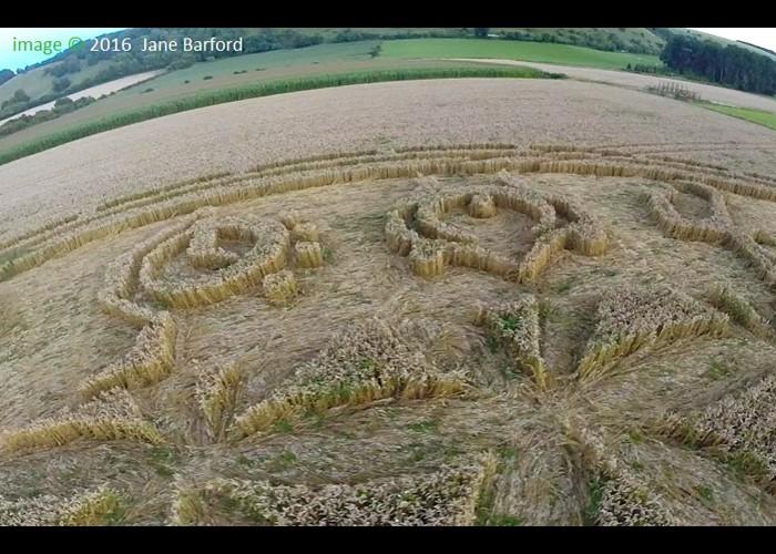 Un incroyable « crop circle » a fait son apparition à Ansty, près de Salisbury, dans le Wiltshire  Sans_555