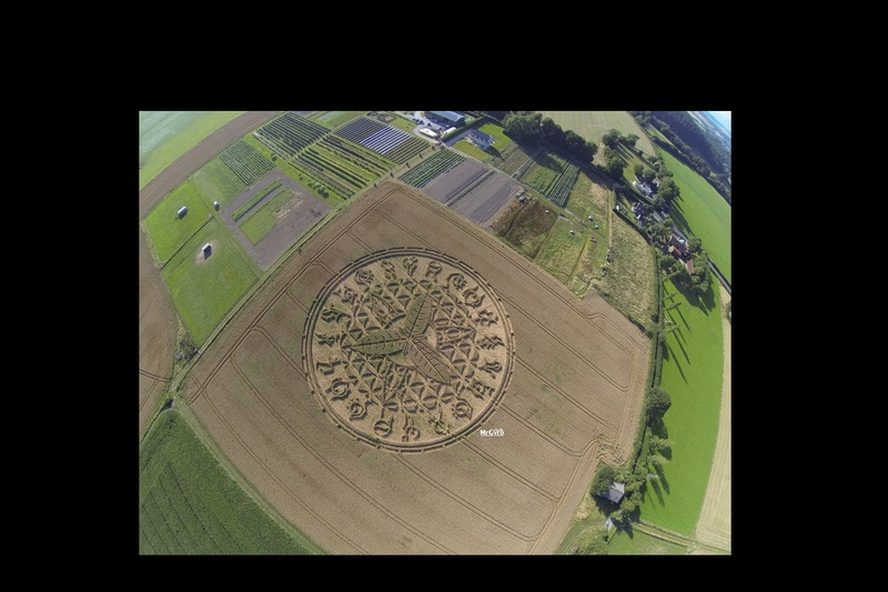 Un incroyable « crop circle » a fait son apparition à Ansty, près de Salisbury, dans le Wiltshire  Sans_563