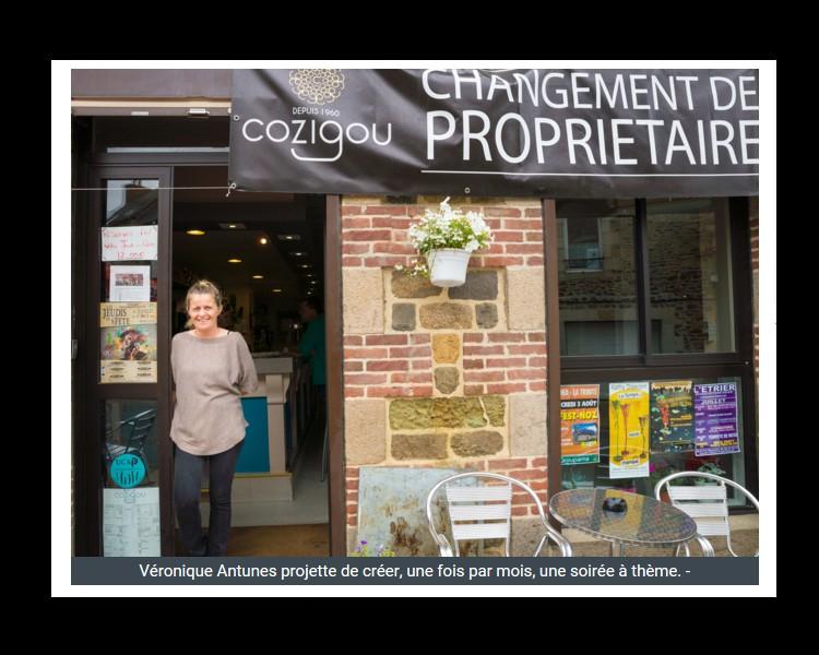 PLOUHA   Véronique Antunes au Café du Commerce W10