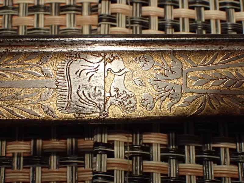 curieux sabre de KLINGENTHAL lame en damas P5250540