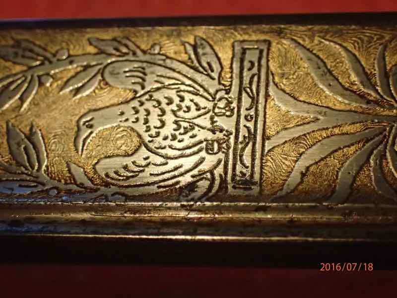 curieux sabre de KLINGENTHAL lame en damas P7180233