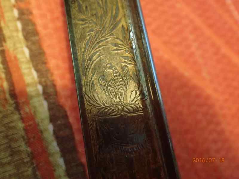 curieux sabre de KLINGENTHAL lame en damas P7180252