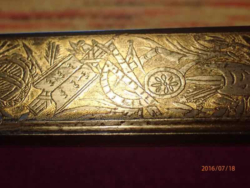 curieux sabre de KLINGENTHAL lame en damas P7180253