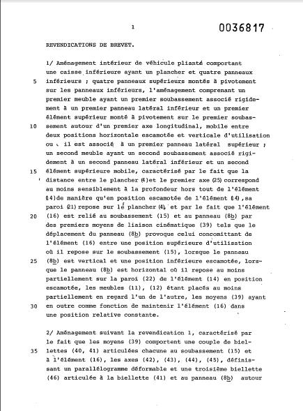 la naissance des esterel (les brevets) 19_81b10