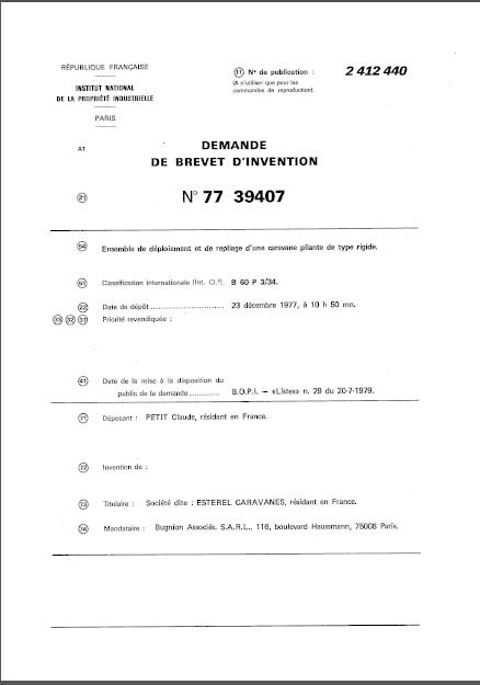 la naissance des esterel (les brevets) 1_7710