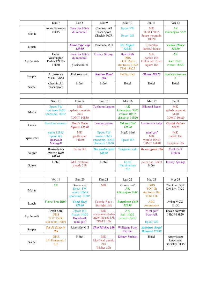 [Pré-TR] WDW première fois 7 au 24 août 2016 (2 nuits All-Star Sports - 15 nuits POR Royal Guest Room) - Page 2 Planni10