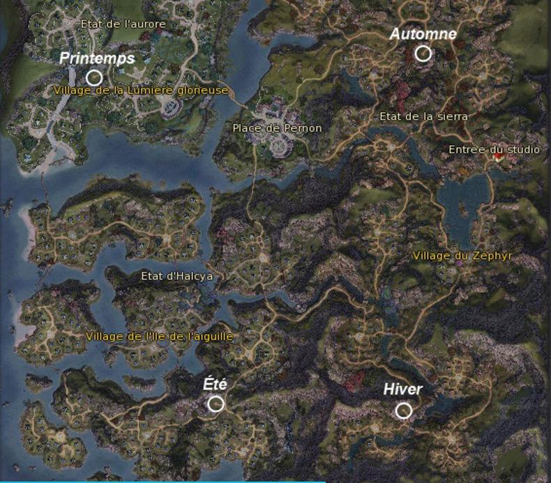 Les Saisons et les emplacements. Carte_10