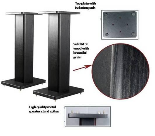 "Speaker Stands 24"" inch & 36"" inch solid wood Presen14"