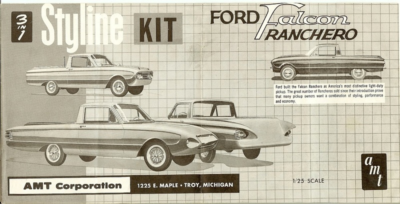 1961 Ford Ranchero - Styline kit - amt - 1/25 scale 61ranc11