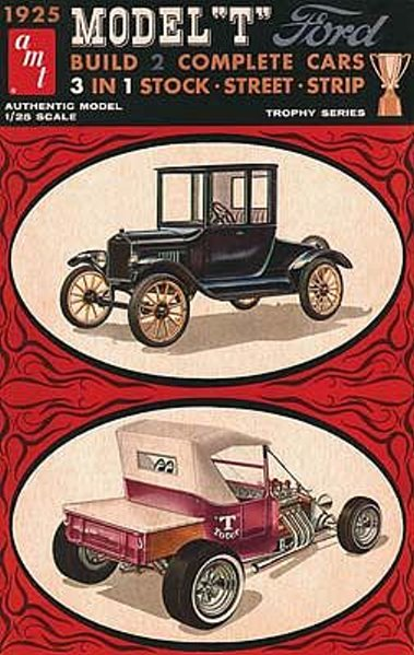 """1925 Ford """"T"""" roadster - amt - customizing kit - Amtfor10"""