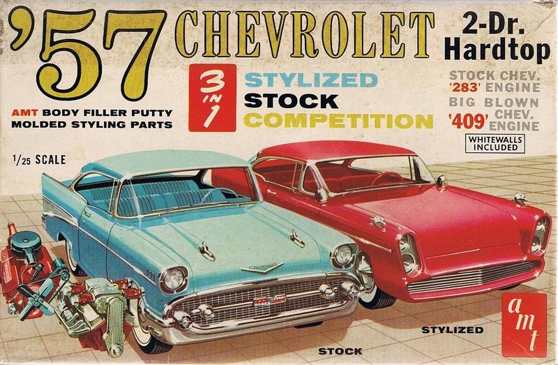 1957  Chevrolet - Customizing kit - trophie series -  amt - 1/25 scale Cci10010