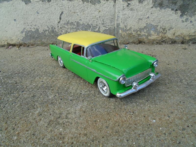 1955 Chevrolet Nomad  - Trophie series - customizing kit - Amt - Dsc03621