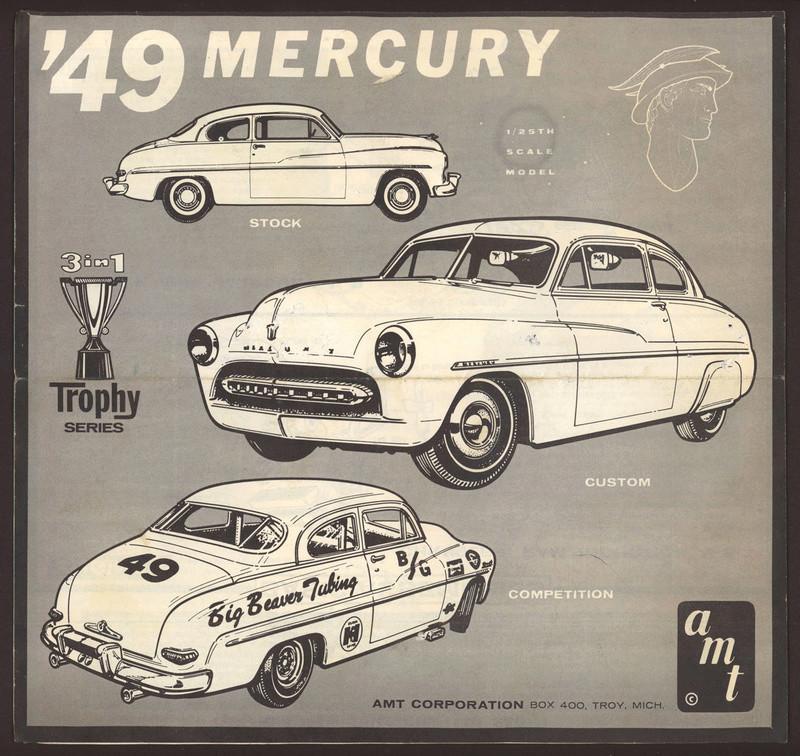 1949 Mercury - Customizing Kit - Trophie series - 3 in 1 - Amt S-l16020