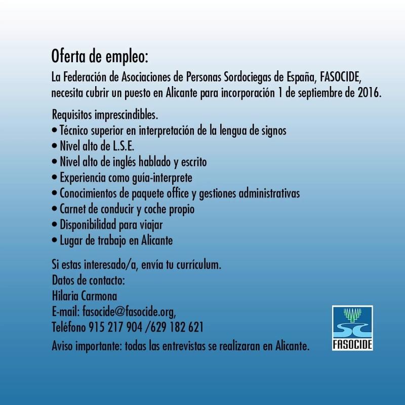 FASOCIDE busca un Guia-Intérprete para septiembre, Alicante Img_2010