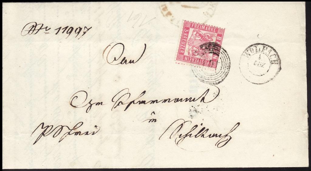 Postgeschichtliche Belege Baden111