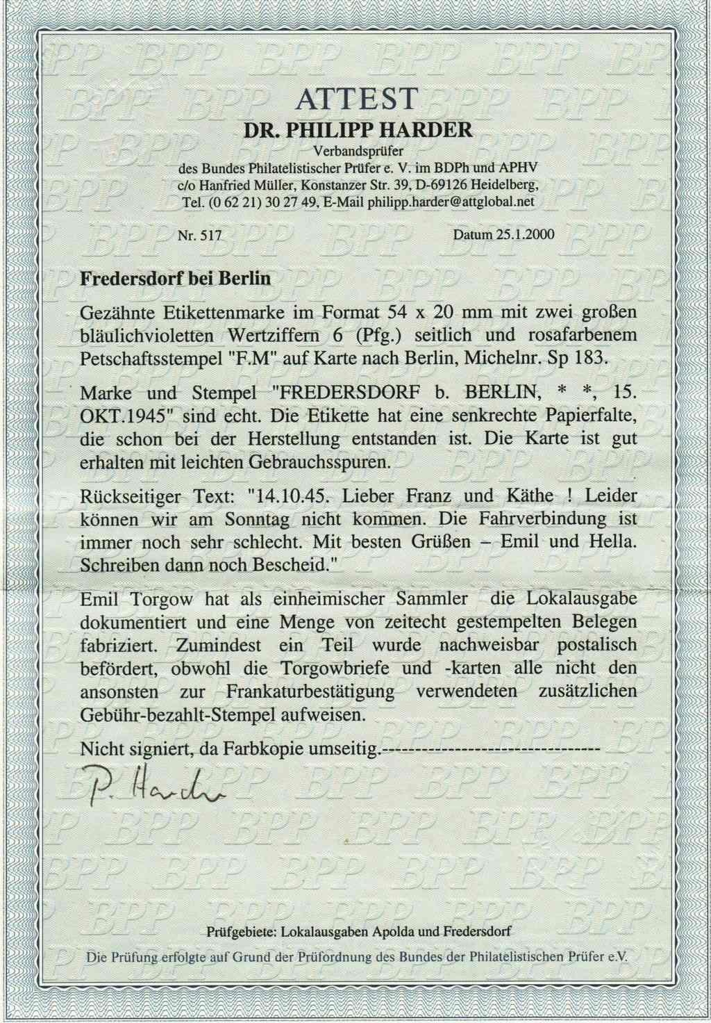 nach - Deutsche Lokalausgaben nach 1945 - Seite 8 Fred2010