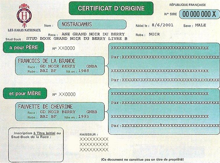 Acquisition d'un équidé -> Documents Certif10