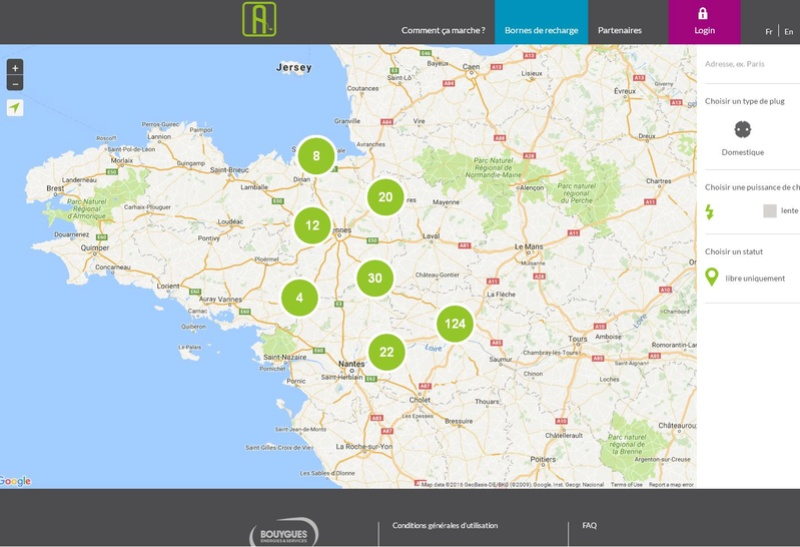 Chargemap ou Freshmile Alize10