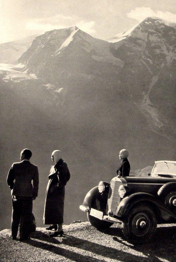 Des vacances avec une Mercedes dans les années 40 Les_va12