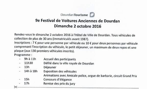 9e Festival de Voitures Anciennes à Dourdan, 2 octobre 2016 Dour110